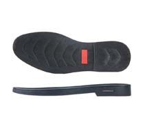Rubber outsole for leather shoes